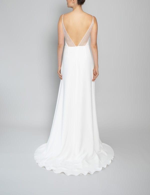 lace spaghetti strap wedding dress