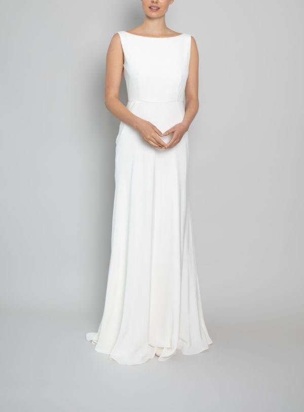 high neck wedding gown