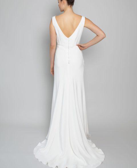 v-back wedding dress