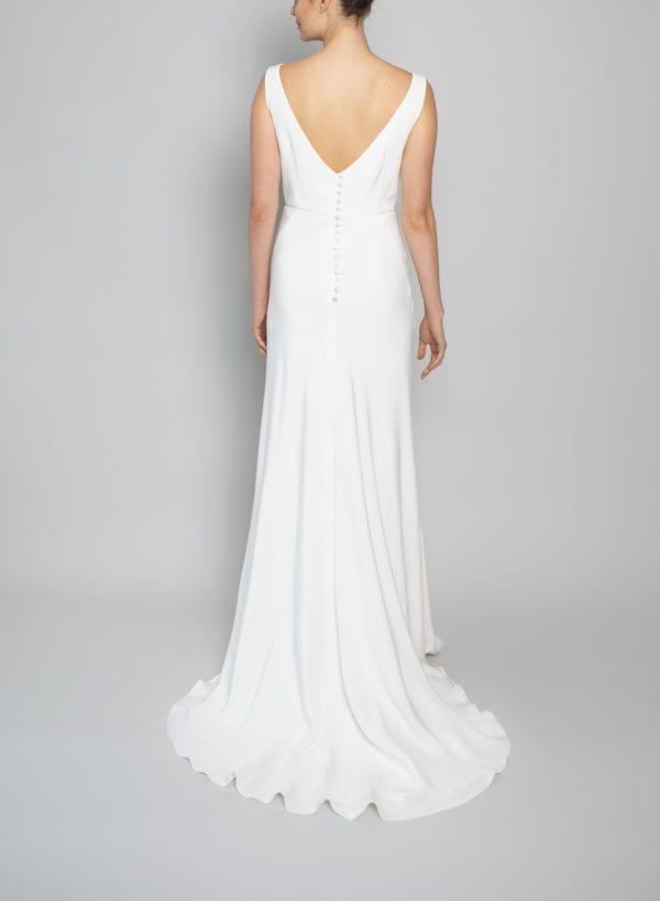 high neck bridal gown