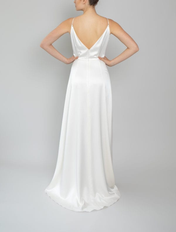 simple spaghetti strap wedding dress