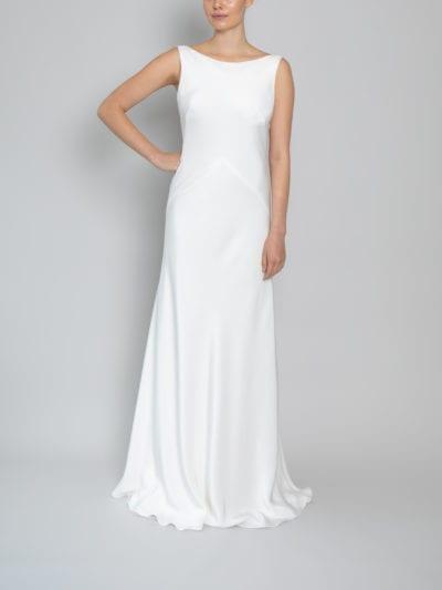 vintage high neck wedding dress