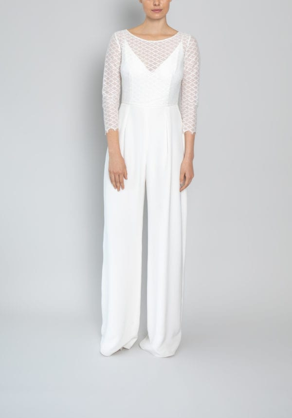 ivory lace top wedding