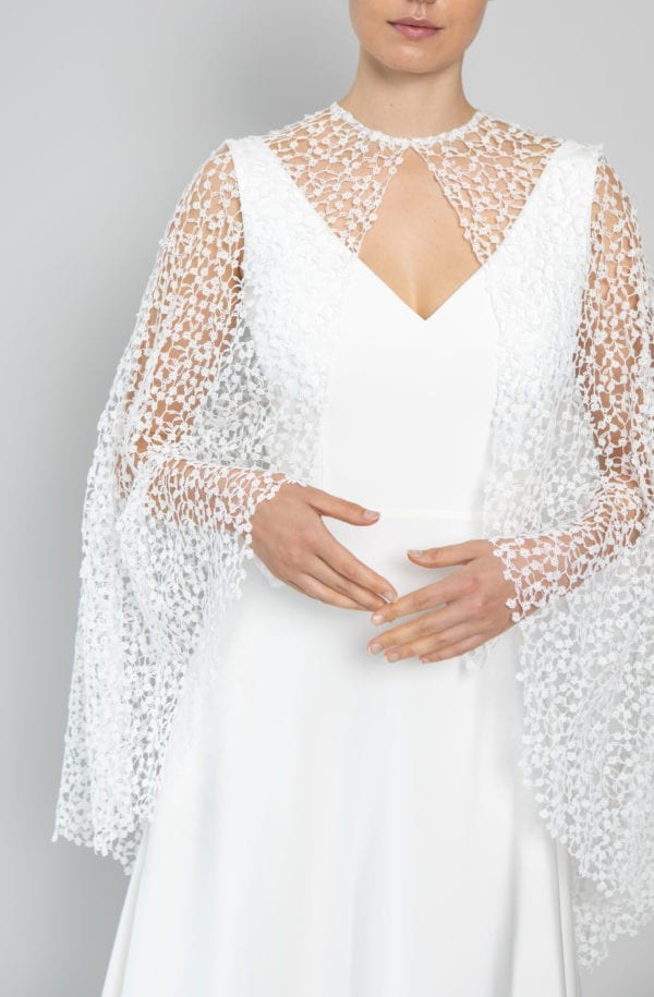 lace arm wedding dress