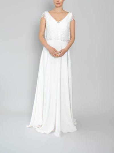 wedding tops lace cap sleeve