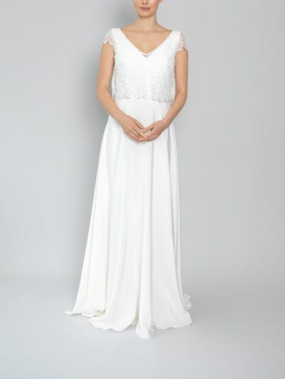 wedding tops lace cap sleeve
