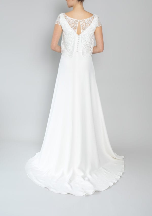 bridal tops lace cap sleeve traditional