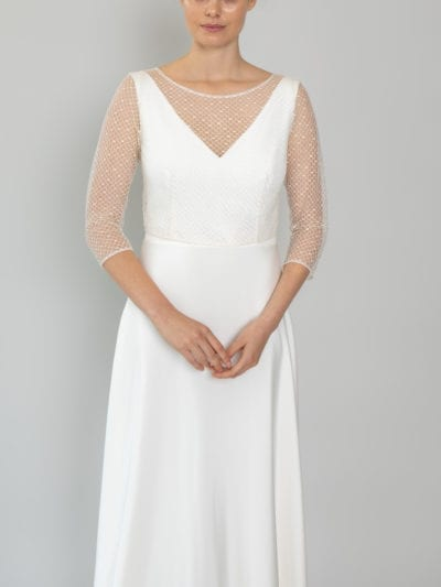 bridal separates top long sleeve lace