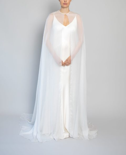 bridal sheer overlay top