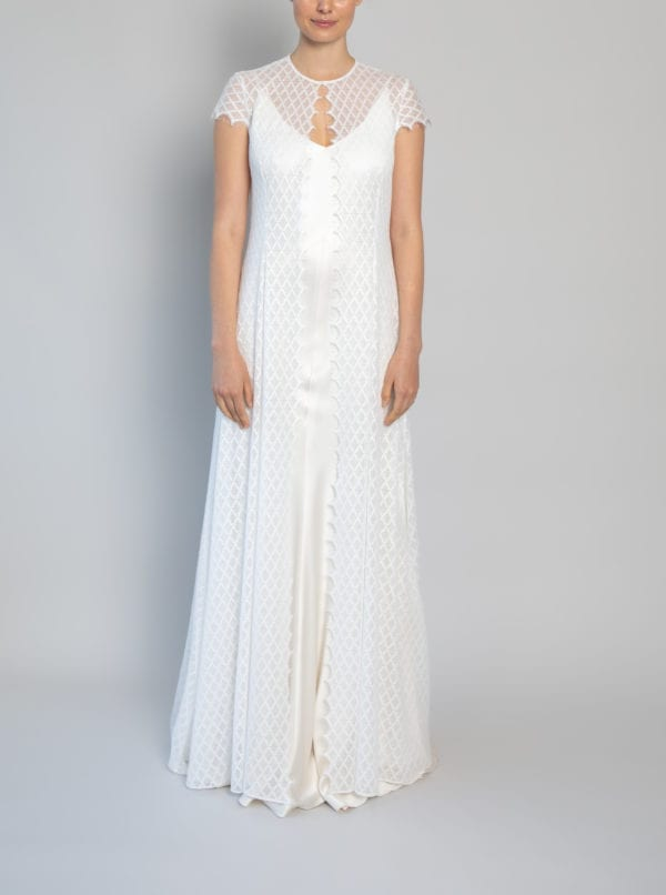 vintage lace wedding dresses with sleeves