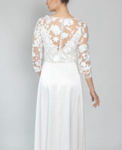 white lace wedding top