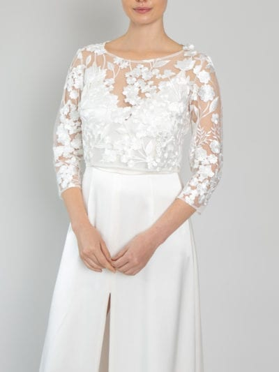 bridal bodice top