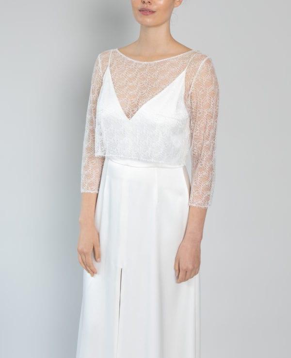 long sleeve wedding top