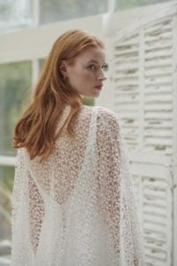 v-back silk simple wedding dress