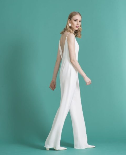 strappy casual bridal jumpsuit