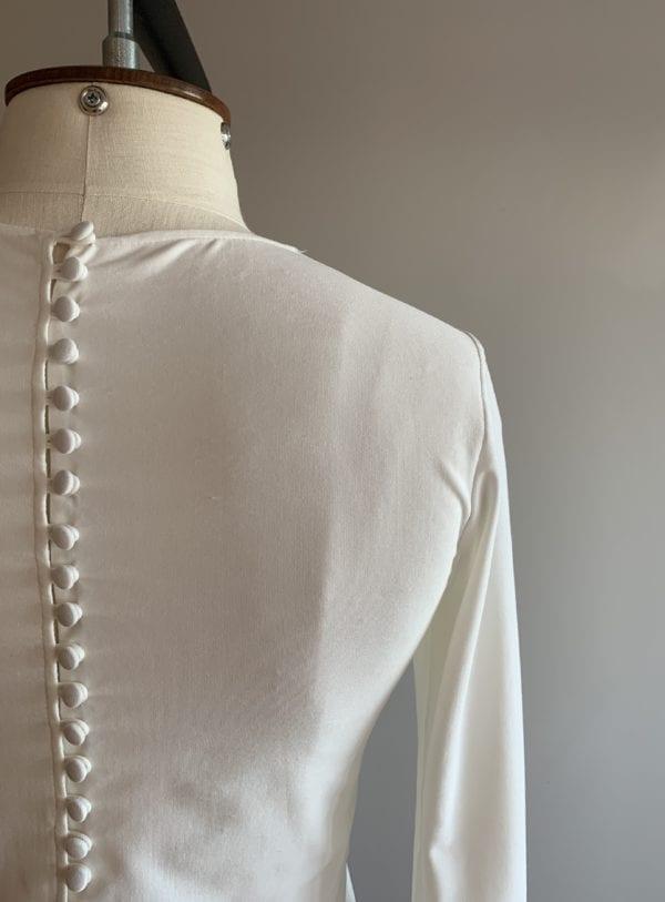 long sleeve bridal top silk jersey