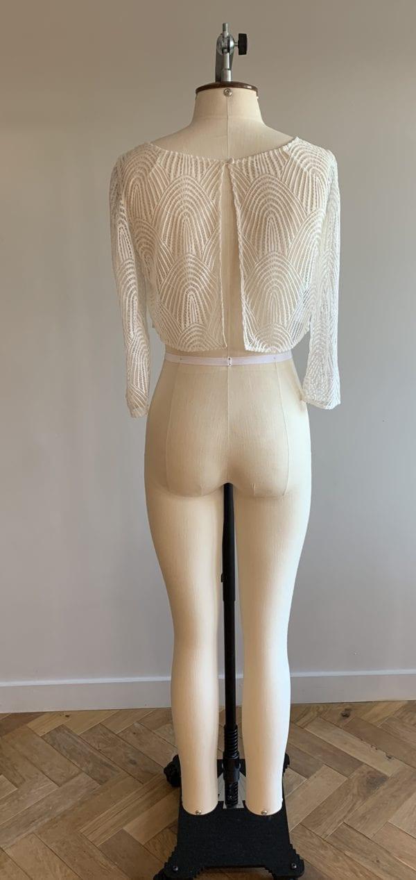 bride vest top lace