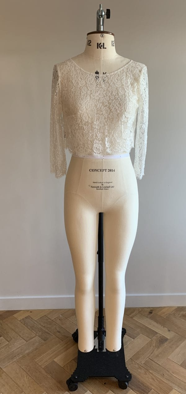 bridal lace crop top