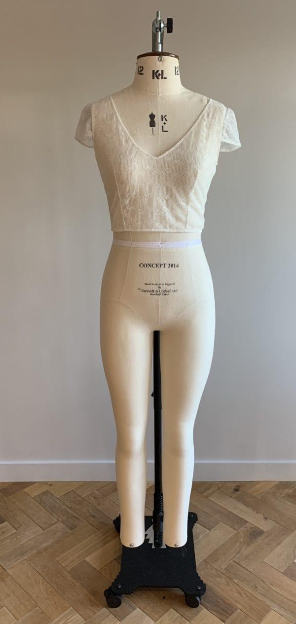 bridal crop top and skirt