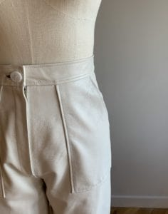 wedding dress trousers leather