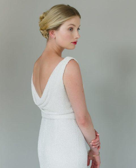 beaded wedding dress