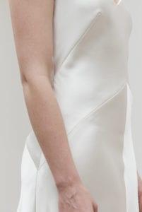 silk satin wedding dress
