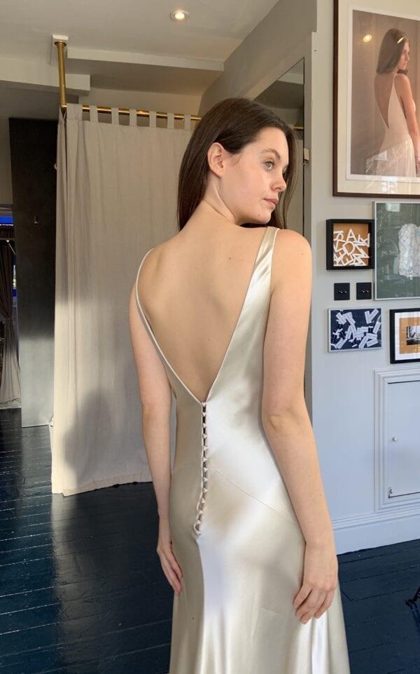 silk wedding elopement dress