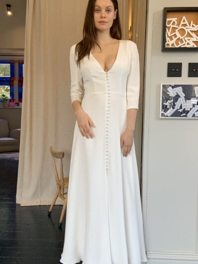 short wedding dress with sleeves