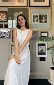 bias wedding dress top