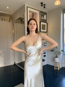 midi length wedding dress