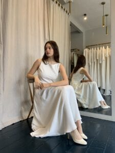 simple casual short wedding dress