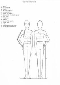 wedding dress size guide
