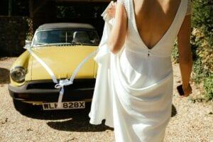low back lace wedding dress