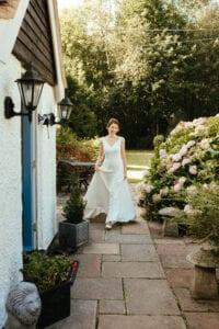 a-line lace wedding dress