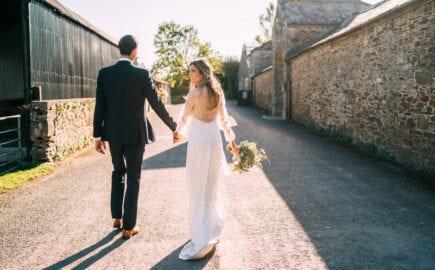 simple silk wedding dress modern bridal top