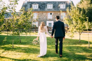 simple wedding dress with sleeves