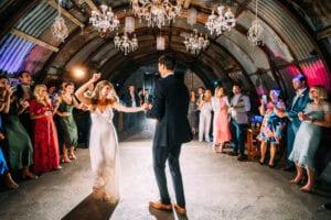 simple silk strappy wedding dress
