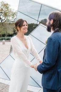 sheer long sleeve silk wedding dress