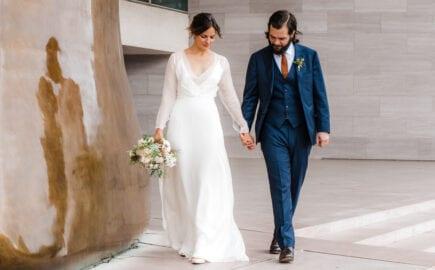 long sleeve silk wedding dress