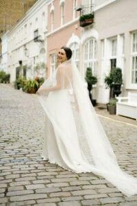 long simple sheer veil