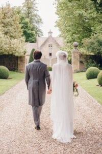 modern lace bridal cape