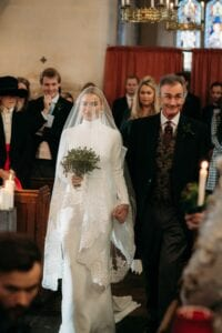 cathedral length lace veil with blusher