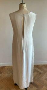 Simple silk high neck wedding dress