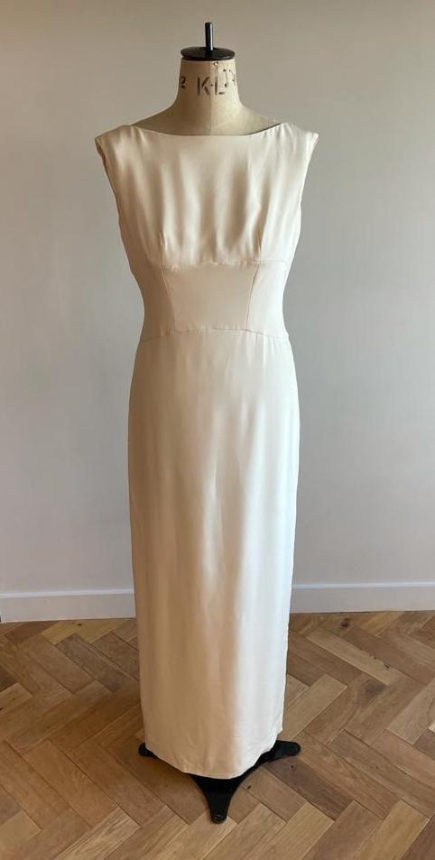 modern high neck wedding dress