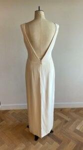 modern low back wedding dress