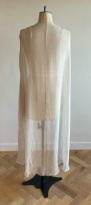 Sheer wedding cape