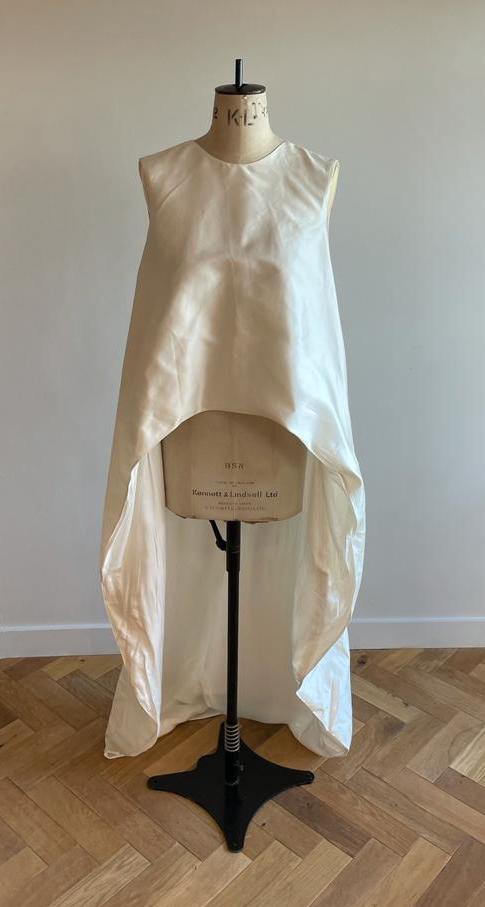silk bridal cape