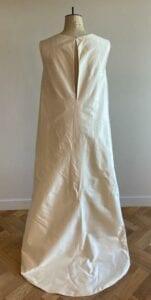 long silk bridal cape