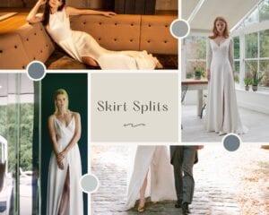 wedding dress with splits