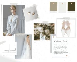 Minimal Modern Wedding Dress